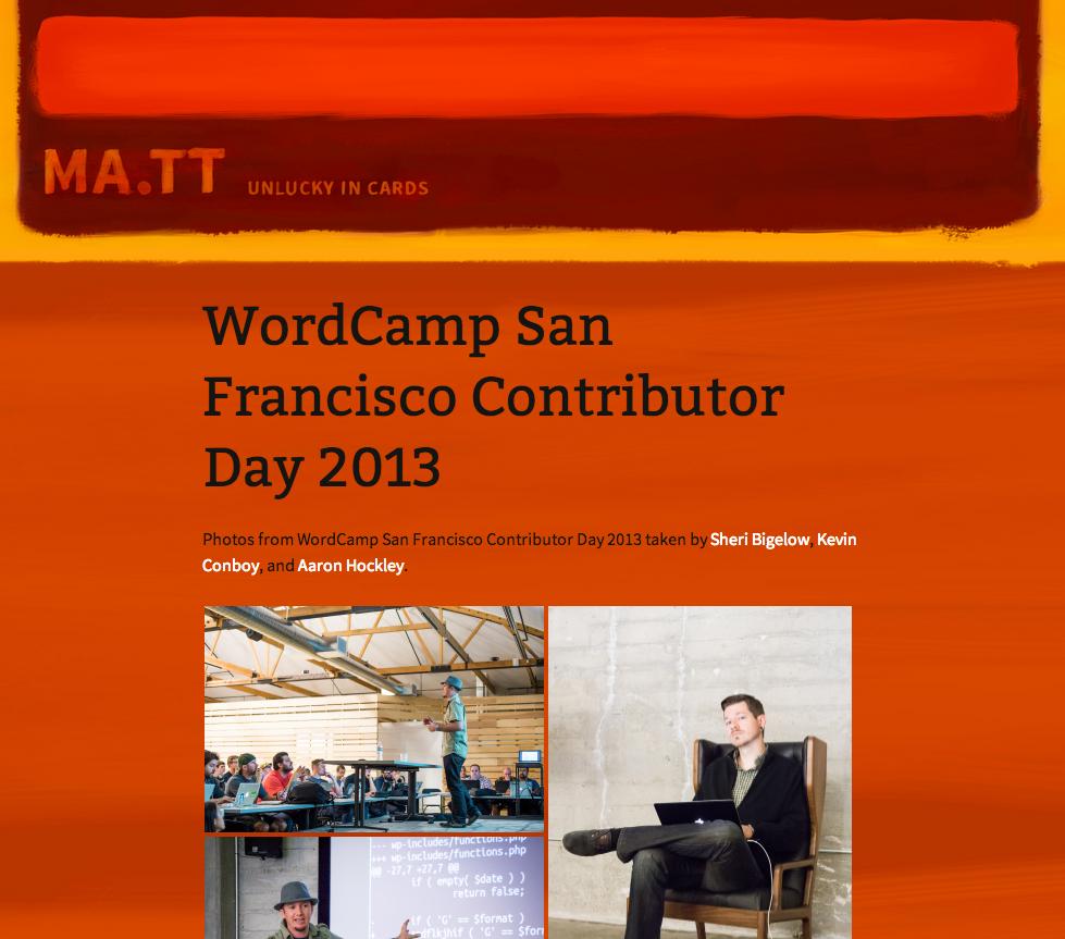 昨年のWordCamp SFでのコントリビューターデイの様子