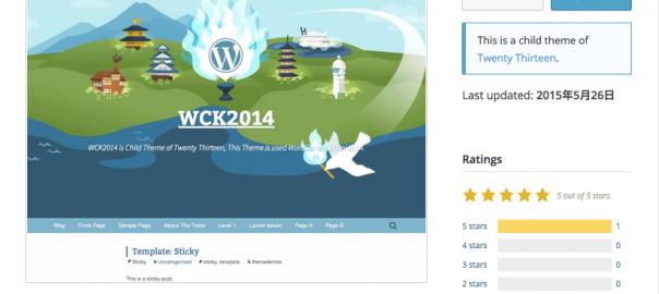 wordcamp kansai 2014のテーマが公式ディレクトリに掲載されました